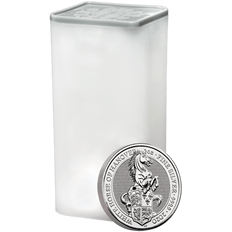 The Queen's Beasts 2020 White Horse of Hanover Ten Silver 2 oz Bullion Coin Tube