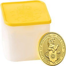 The Queen's Beasts 2020 The White Lion of Mortimer 1 oz Gold Ten Coin Tube
