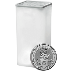 The Queen's Beasts 2020 The Lion of Mortimer 2 oz Silver Ten Coin Tube