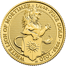 The Queen's Beasts 2020 The Lion of Mortimer 1/4 oz Gold Coin