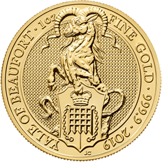 The Queen's Beasts 2019 The Yale 1 oz Gold Coin