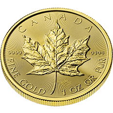 Canadian Maple Leaf 2018 1 oz Gold Ten Coin Tube