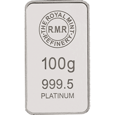 100 g Platinum Bar Minted