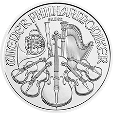Austrian Philharmonic 2018 1 oz Silver Twenty Five Coin Tube