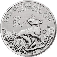 Lunar 2020 Year of the Rat – 1 oz Silver Coin