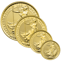 Britannia 2019 Gold 1oz, 1/2oz, 1/4oz & 1/10oz Coin Bundle
