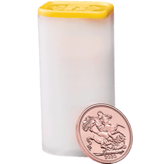 The Sovereign 2020 Gold Bullion Twenty Five Coin Tube