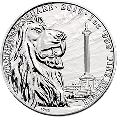 Landmarks of Britain 2018 Trafalgar Square 1 oz Silver Coin