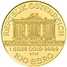 Austrian Philharmonic 2018 1 oz Gold Coin