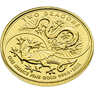 Two Dragons 2018 1 oz Gold Coin