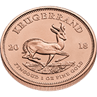 South African Krugerrand 2018 1 oz Gold Coin