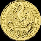 The Queen's Beasts 2017 The Dragon 1 oz Gold Ten Coin Tube