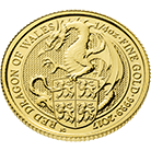 The Queen's Beasts 2017 The Dragon 1/4 oz Gold Coin