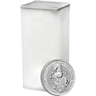 The Queen's Beasts 2018 The Unicorn 2 oz Silver Ten Coin Tube