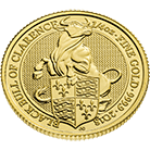 The Queen's Beasts 2018 Black Bull 1/4 oz Gold Coin