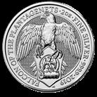 The Queen's Beasts 2019 Falcon 2 oz Silver Ten Coin Tube
