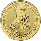 The Queen's Beasts 2020 White Horse of Hanover ¼ oz Gold Bullion Coin