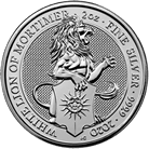 The Queen's Beasts 2020 The White Lion of Mortimer 2 oz Silver Coin