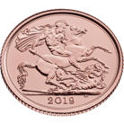 The Sovereign 2019 Gold Bullion 25 Coin Tube
