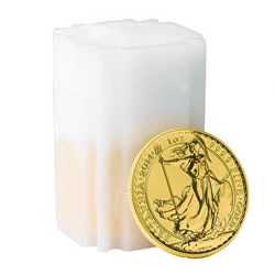The Britannia Gold Bullion 10 Coin Tube