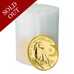 The 2014 Year of the Horse UK Gold Bullion 10 Coin Tube