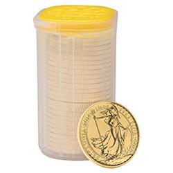 2014 Britannia 1/4 oz Gold Bullion 25 Coin Tube