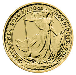 2014 Britannia 1/10 oz Gold Bullion Coin