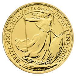 2014 Britannia 1/2 oz Gold Bullion Coin
