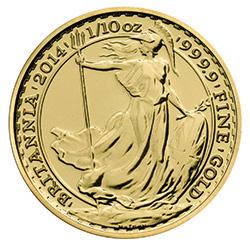 2014 Britannia 1/10 oz Gold Bullion Coin