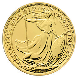 2014 Britannia 1/2 oz Gold Bullion Coin