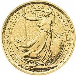 2015 Britannia 1/2 oz Gold Bullion Coin