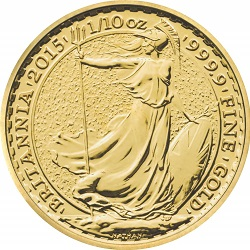 2015 Britannia 1/10 oz Gold Bullion Coin