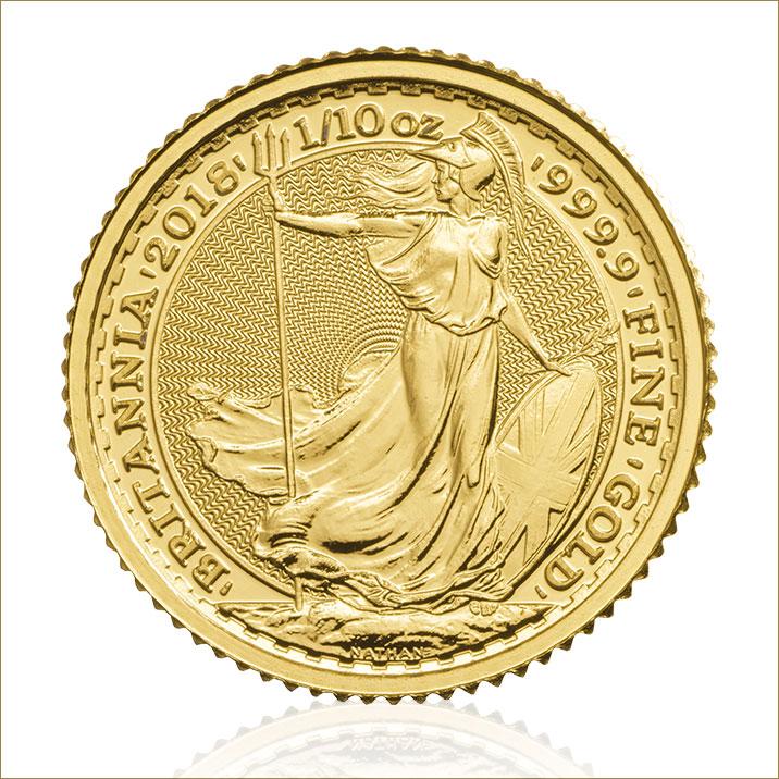 2018 Britannia 1 10 Oz Gold Bullion Coin Tube Royal
