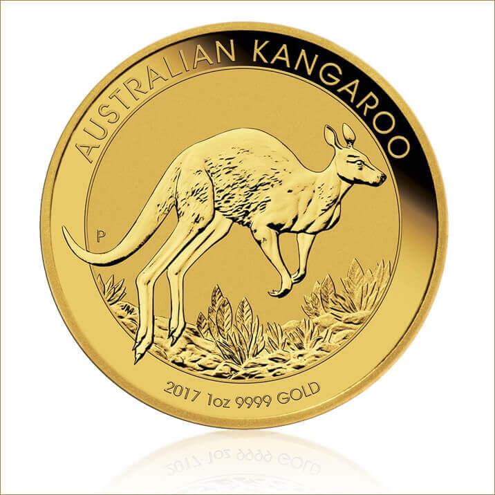 2017 1 oz Australian Nugget Gold Kangaroo Coin