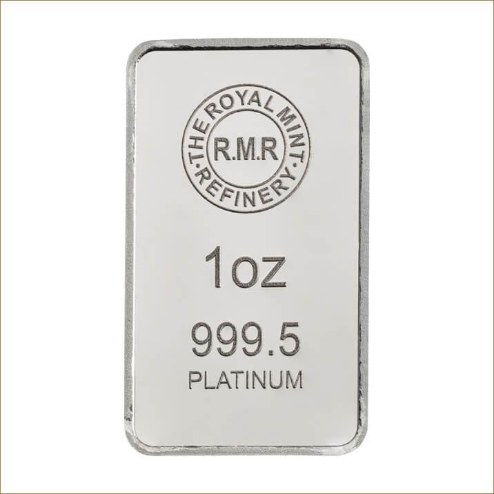 1 oz Platinum Bar Minted