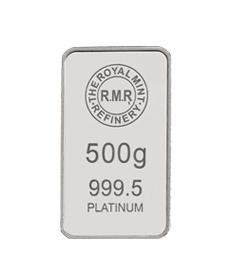 500 g Platinum Bar Minted