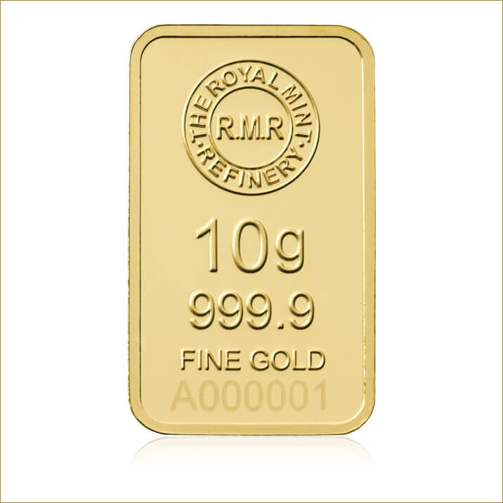 10 g Gold Bar Minted
