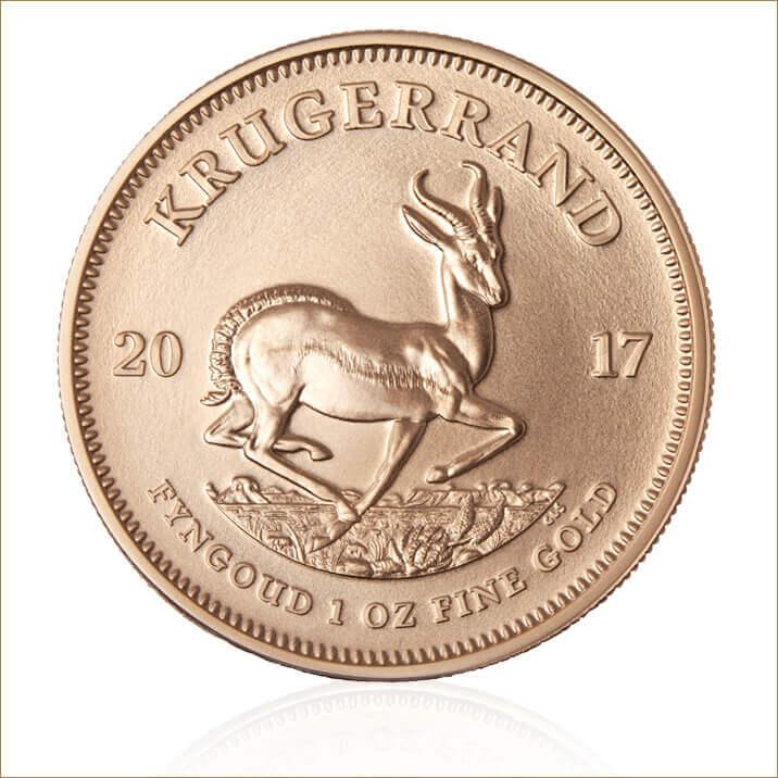 2017 1 oz South African Gold Krugerrand Ten Coin Tube
