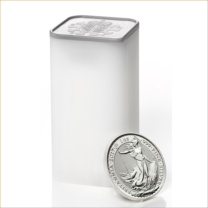 Britannia 2017 1 oz Silver Twenty Five Coin Tube