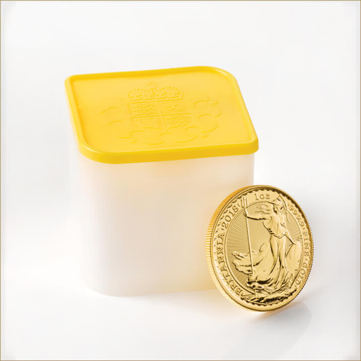 2018 Britannia 1 oz Gold Bullion 10 Coin Tube