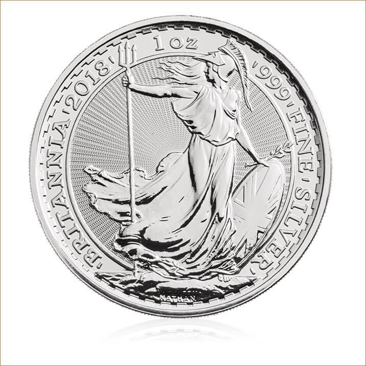 2018 Britannia – 1 oz Silver Bullion 25 Coin Tube