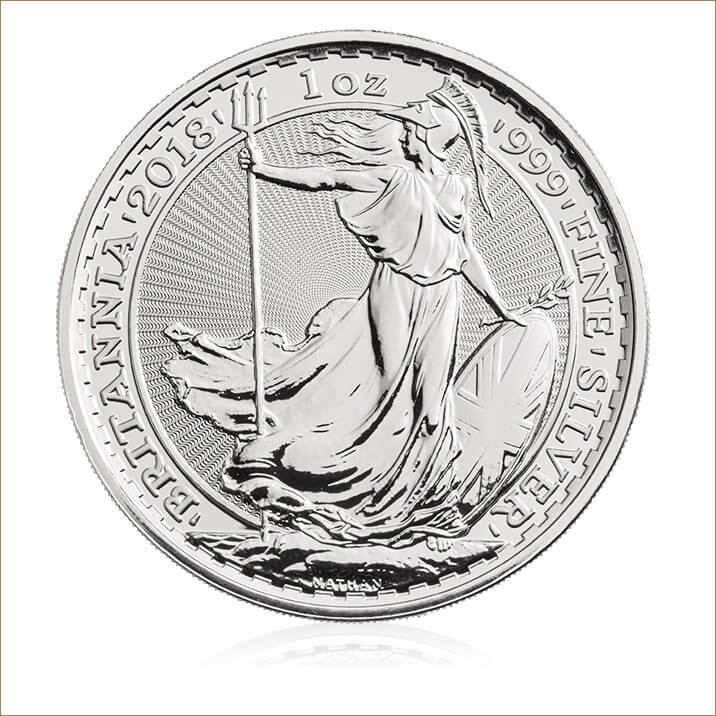 2018 Britannia 1 oz Silver Bullion Coin