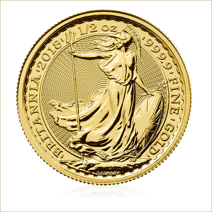 Britannia 2018 1/2 oz Gold Coin