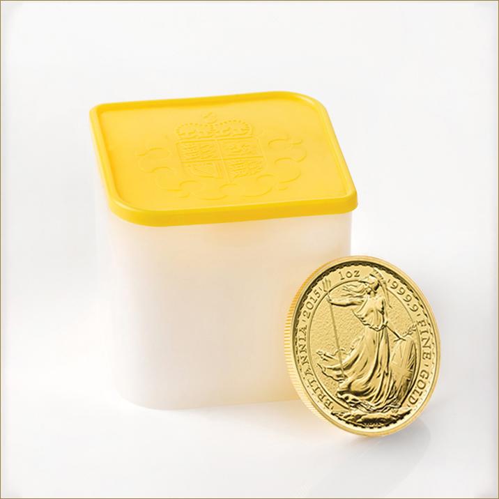 Britannia 2015 1 oz Gold Ten Coin Tube