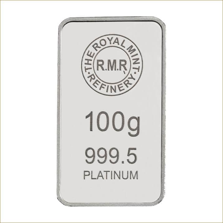 100 g Platinum Bar Minted