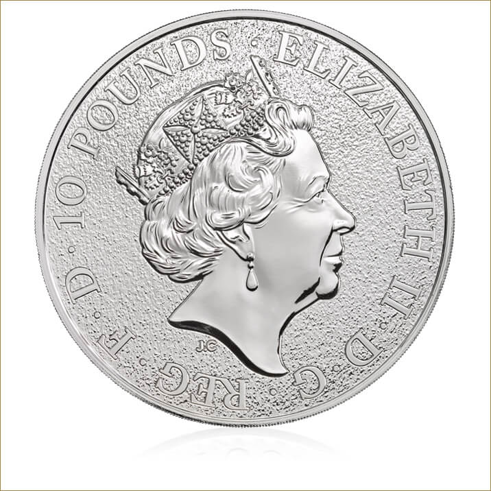 The Queen's Beasts 2017 – The Lion - 10 oz Silver Bullion Coin