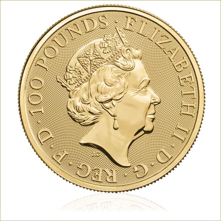 The Queen's Beasts 2018 Black Bull 1 oz Gold Ten Coin Tube