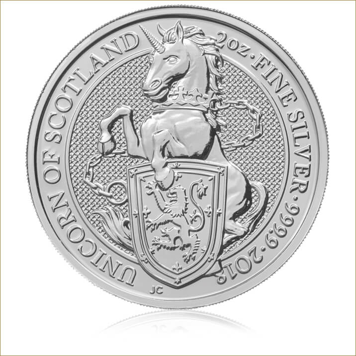 The Queen's Beasts 2018 The Unicorn 2 oz Silver Ten Coin Tube