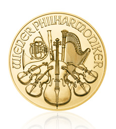 2017 1 oz Austrian Philharmonic Gold Ten Coin Tube
