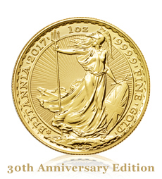 2017 Britannia Anniversary 1 oz Gold Bullion Coin